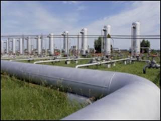 خط لوله گاز - عکس از AP