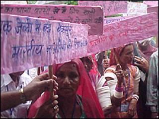 भारतीय क़ैदियों की रिहाई के लिए प्रदर्शन