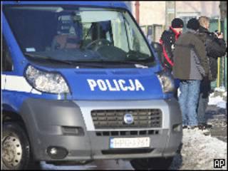 Полицейский фургон в Польше (архивное фото)