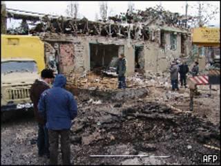 На месте взрыва в Махачкале