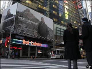 Anuncio publicitario en Times Square