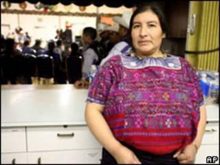 Gregoria Chales, migrante guatemalteca