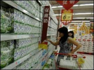 上海超市奶品專櫃