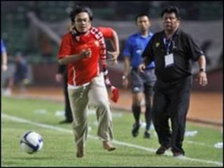 El seguidor de Indonesia, en plena aparición en el campo.