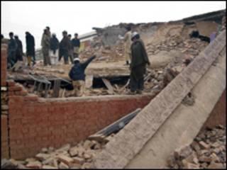 تباہ سکول کی فائل فوٹو
