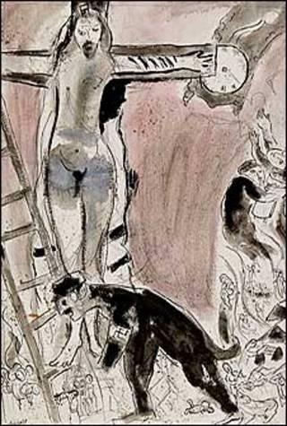 "Картина Марка Шагала ""Апокалипсис в лиловом. Каприччио"""