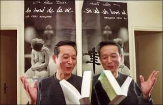 Nhà văn Cao Hành Kiện tại Paris khi đoạt giải Nobel năm 2000