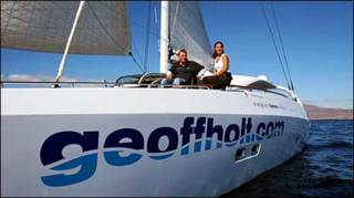 Джефф Холт и его яхта