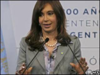 A presidente da Argentina, Cristina Kirchner (AFP, 15/12/2009)