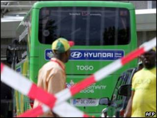 Autobús del equipo de Togo