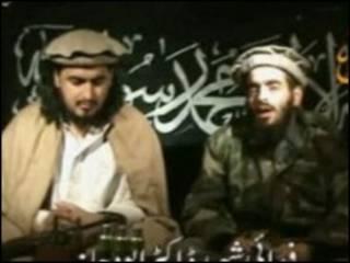 بلاوی (راست)در کنار حکیم الله محسود