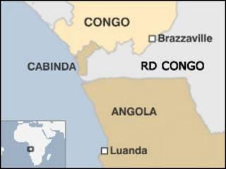 Mapa de Cabinda