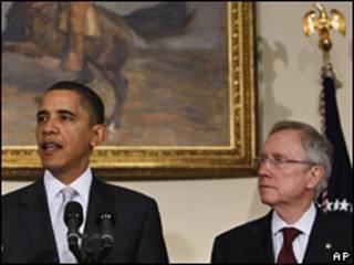 Барак Обама и Гарри Рид