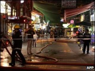 Escena del ataque de ácido en Hong Kong, 9 de enero de 2010