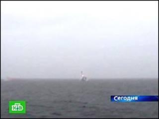 """Испытательный запуск ракеты """"Булава"""" (кадр НТВ)"""