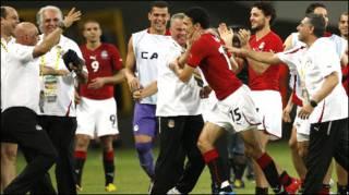 فرحة المنتخب المصري