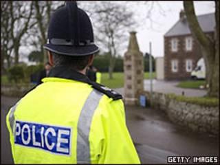 Agente de policía británico. Archivo