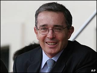Álvaro Uribe, presidente de Colombia.