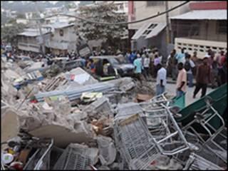 منطقه زلزله زده