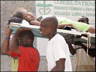 Vítima de terremoto no Haiti