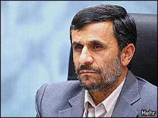 O presidente do Irã, Mahmoud Ahmadinejad