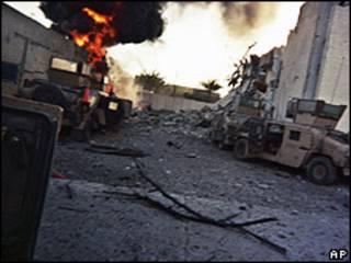 Zona de Bagdad después de un ataque.