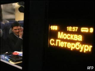 Поезд из Москвы в Санкт-Петербург