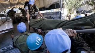 Equipo de rescate de la ONU en Haití