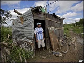 Campamento en Resistencia, en el norte de Argentina