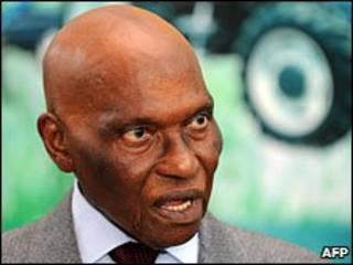 El presidente de Senegal, Abdoulaye Wade