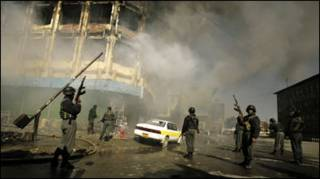 درگیری مسلحانه شورشیان و نیروهای افغان در کابل