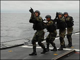 Soldados peruanos en septiembre de 2009. Foto: Comando Sur de EE.UU.