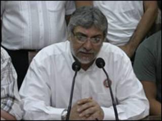 Presidente de Paraguay, Fernando Lugo.