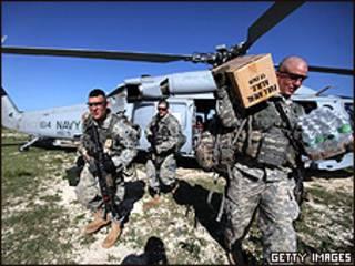 Soldados estadounidenses en Haití