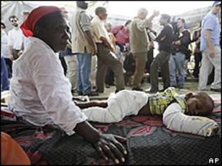 Víctimas del sismo en Puerto Príncipe, Haití