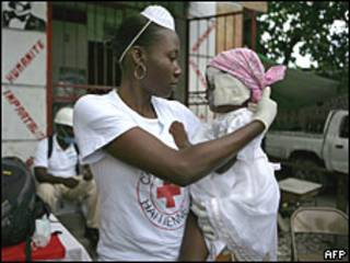 Enfermera en Puerto Príncipe