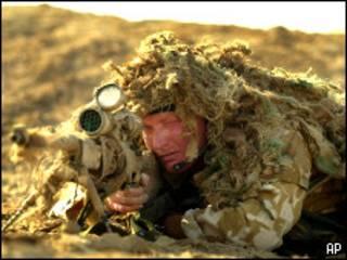 Британский военный в Ираке