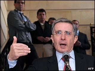 El presidente colombiano, Álvaro Uribe
