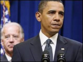 O presidente dos EUA, Barack Obama, e o vice, Joe Biden