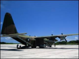台灣派往海地救援的軍機C130