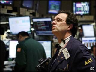 Operador em Wall Street (Foto: Arquivo 21/01/2010)