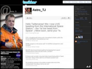 T.J. Creamer, primer astronauta en twittear desde el Espacio.