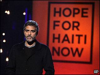 George Clooney durante o evento