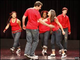 Escena de la serie de televisión Glee