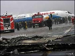 هواپیمای توپولف در فرودگاه مشهد