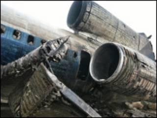 هواپیمای سقوط کرده