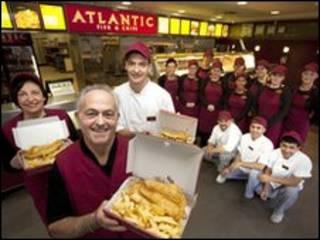 一家拉纳克郡的炸鱼薯条店被评选为英国最地道的炸鱼薯条店