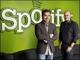 Fundadores de Spotify Martin Lorentzon (izq) y Daniel Ek