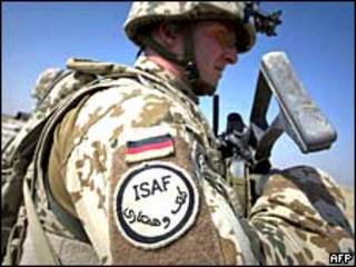 Немецкий военнослужащий в Афганистане
