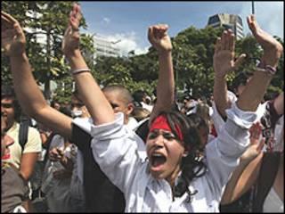 Protesto em Caracas